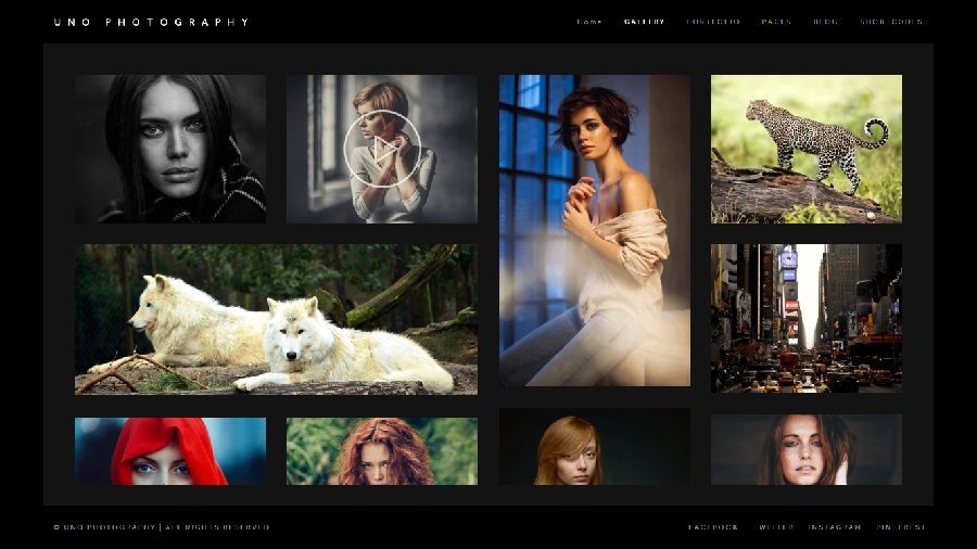 Uno Photography WordPress Theme