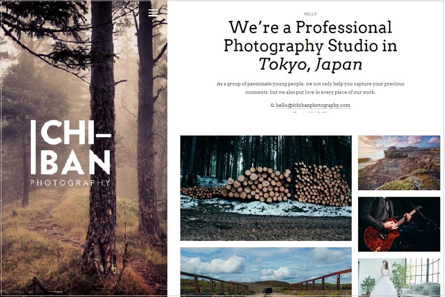 ichiban photography wordpress theme