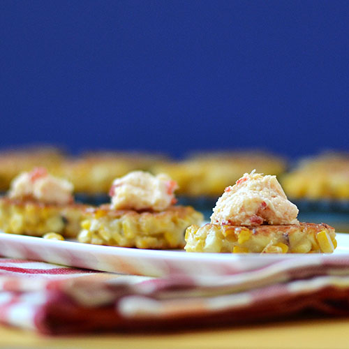 Corn fritter, pimento cheese, fritter, appetizer, corn, cheese, Jarlsburg, cream cheese, mayonnaise, pimentos, salt, pepper