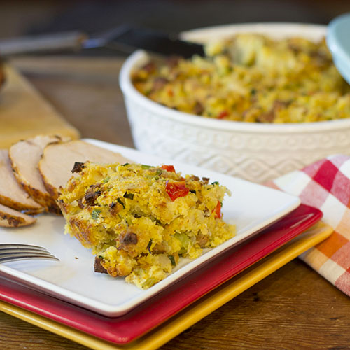 Cajun Corn Bread Stuffing