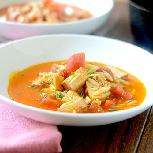 Chicken Tomato Orzo Soup