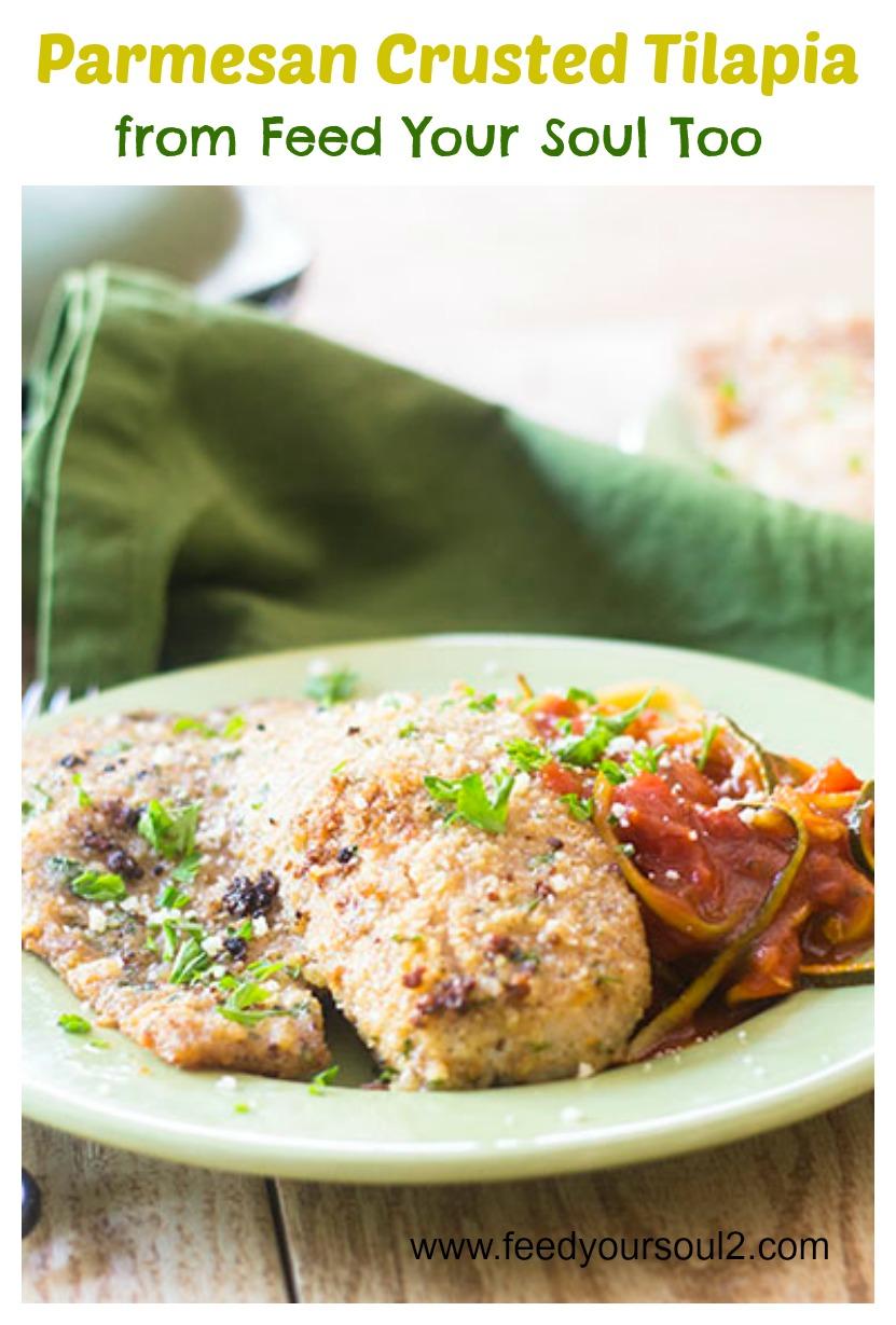 Parmesan Crusted Tilapia #seafood #parmesan #crusted | feedyoursoul2.com