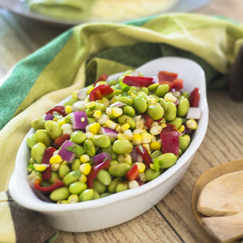 Edamame Corn Salad from Feed Your Soul Too