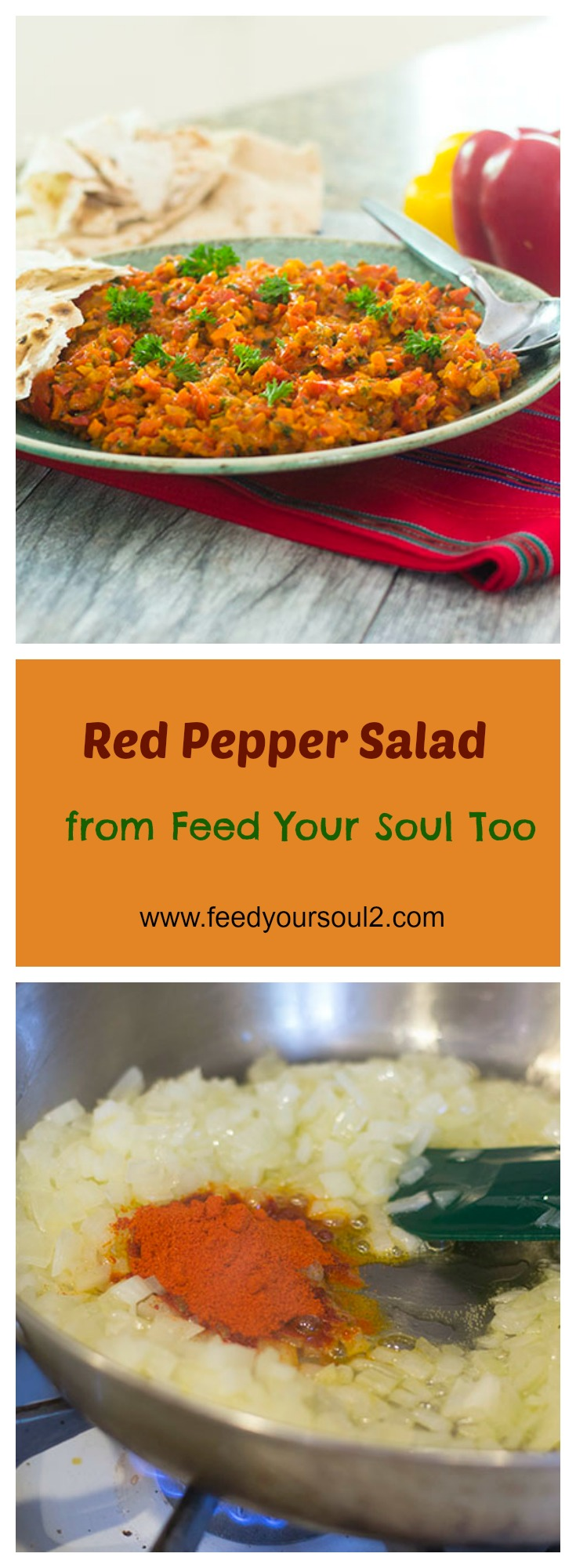 Red Pepper Salad a la Zahav #vegan #redbellpeppers #appetizer | feedyoursoul2.com