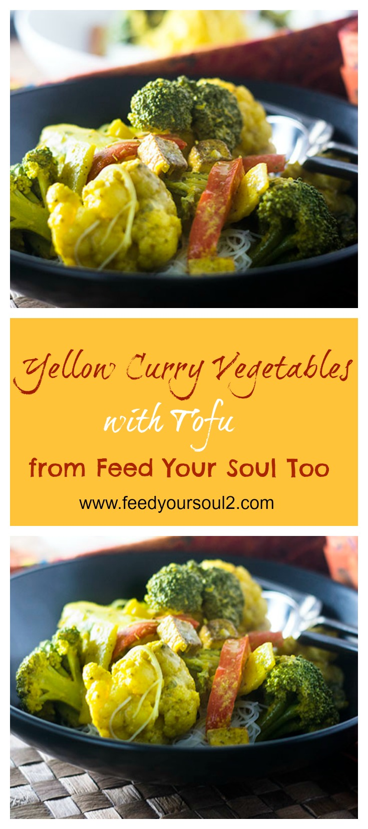 Yellow Curry Vegetables with Tofu #glutenfree #thaifood #curry | feedyoursoul2.com