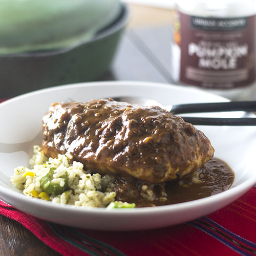 Pumpkin Mole Chicken #producpost #Mexicanfood #mole #chicken | feedyoursoul2.com