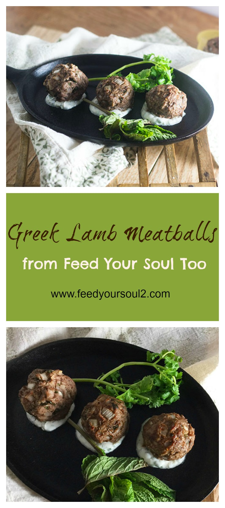 Greek Lamb Meatballs #appetizers #greekfood #meatballs #entertaining | feedyoursoul2.com