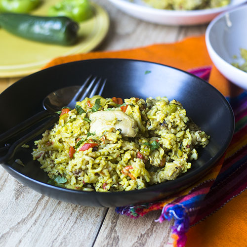 Pressure Cooker Arroz Con Pollo from Feed Your Soul Too