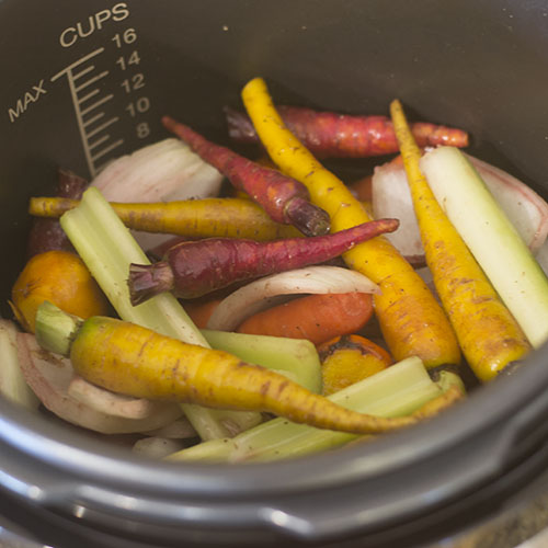 Vegetables in the Pressure Cooker