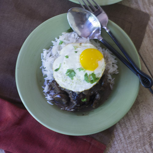 Hamburger Loco Moco Recipe from Feed Your Soul Too