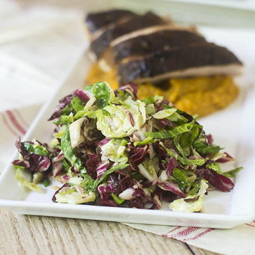 Brussels Sprouts Radicchio Slaw from Feed Your Soul Too