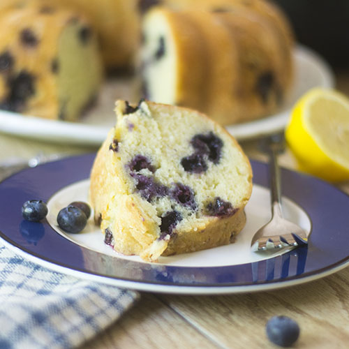 GF Lemon Blueberry Bundt Cake from Feed Your Soul Too
