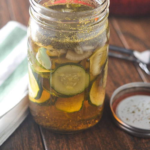 Spicy Garlic Pickles from Feed Your Soul Too