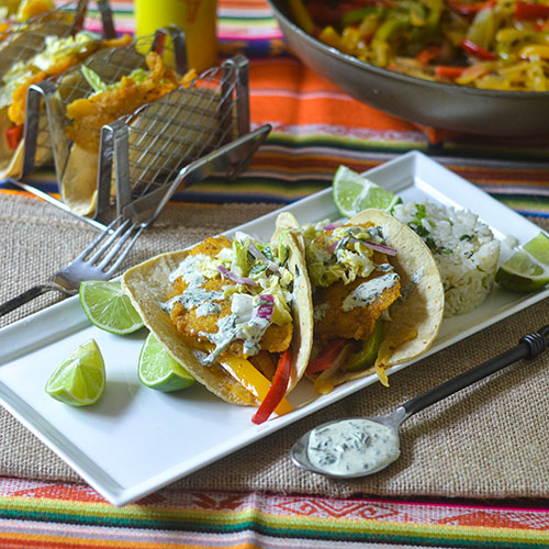 Pan Fried Sea Bass Tacos from Feed Your Soul Too