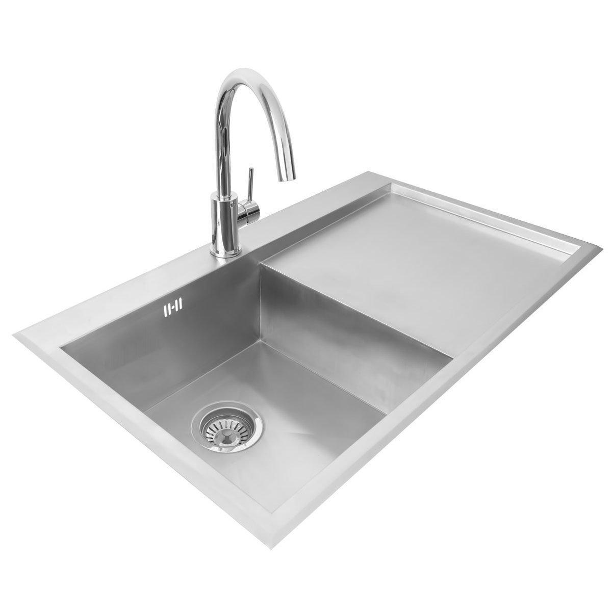 compact kitchen sink workbench valle richmond 860x510mm right hand single bowl