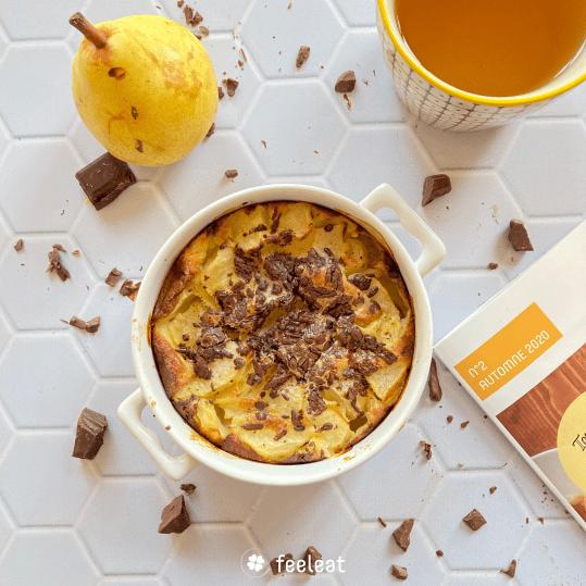 Clafoutis poire chocolat - Feeleat