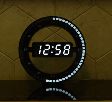 Circular Large LED Digital Wall Clock  FeelGift