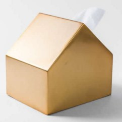 Remote Holder For Chair Shaw Walker Metal House-shaped Tissue Box Cover - Feelgift