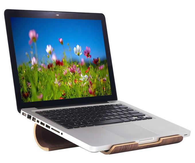 Wooden Laptop Cooling Stand Holder for Apple MacBook