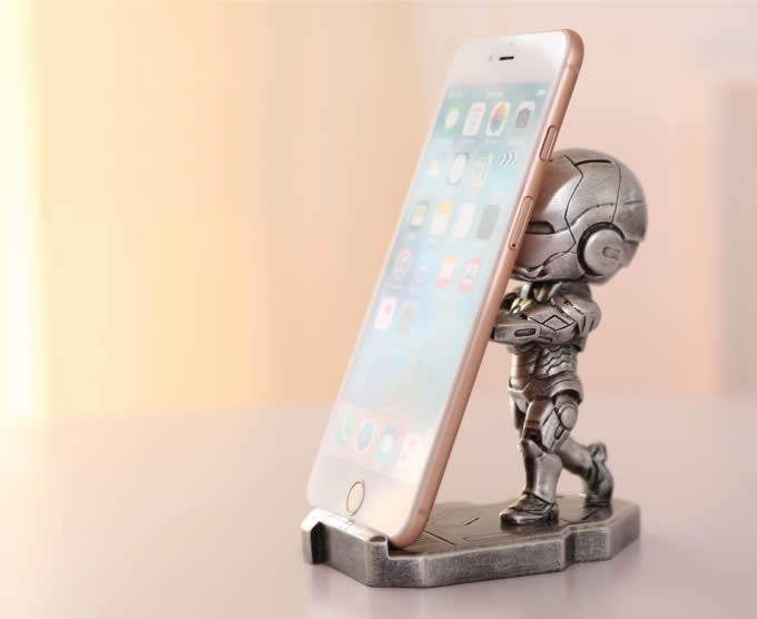 ipad stand for chair beach lounge portable iron man desk cell phone holder - feelgift