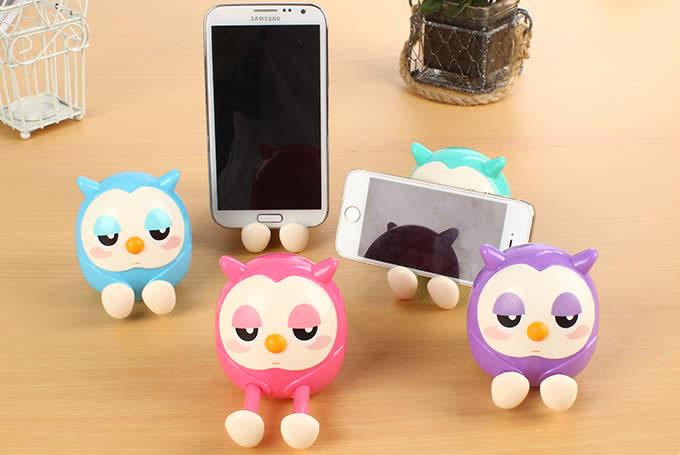 Owl Piggy Bank Cell Phone Stand Holder FeelGift
