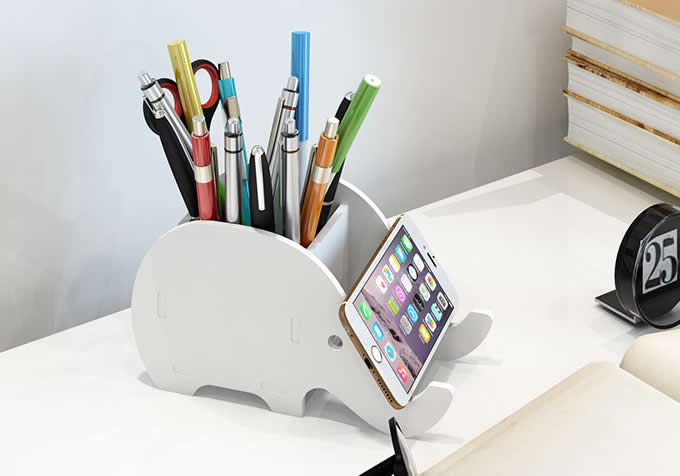 Elephant Stationery Organizer Phone Stand Holder Feelgift