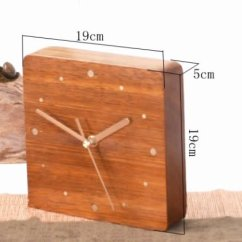 Old Wooden Desk Chair Standing Chairs Handmade Modern Clock,red Rosewood - Feelgift