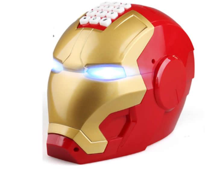 Electronic Iron Man Password Piggy Bank Cash Coin Can Auto