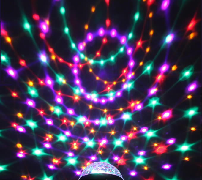 Multicolor Changing LED Magic Crystal Ball Effect Light  FeelGift
