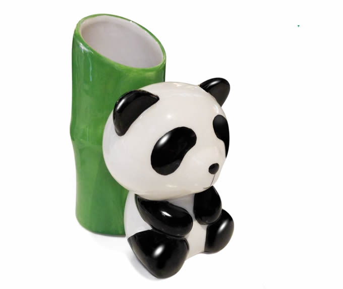 old office chair and table chairs lowestoft panda ceramic toothbrush holder,pen holder - feelgift
