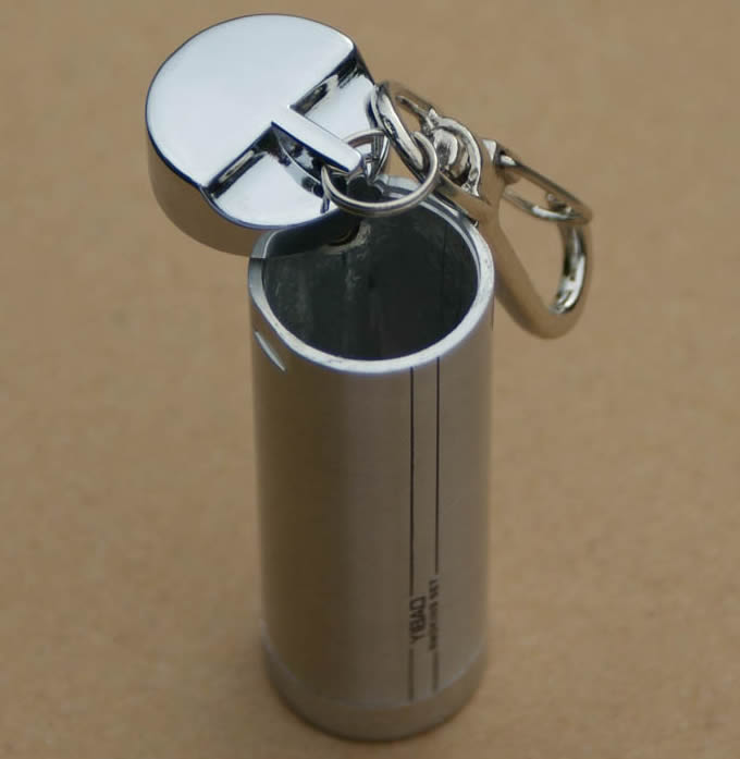 remote holder for chair netting design cylinder portable pocket ashtray with keychain - feelgift