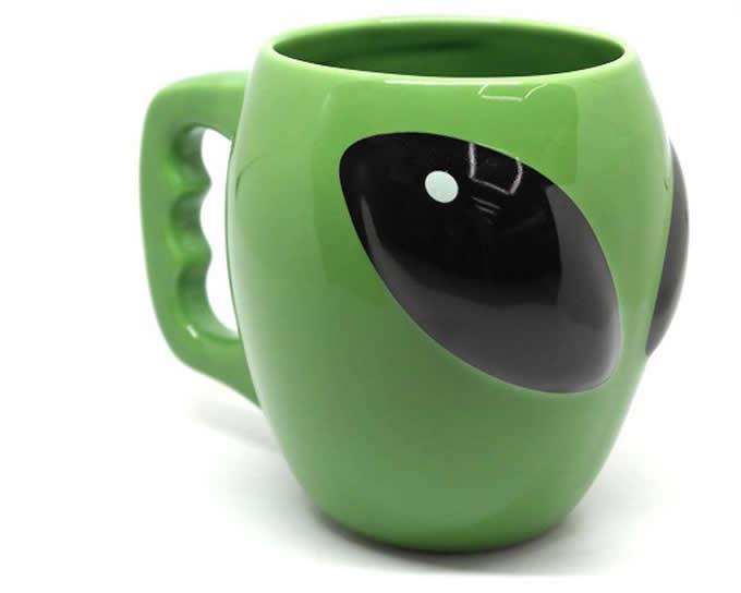 3D Alien Ceramic Coffee Mug  FeelGift