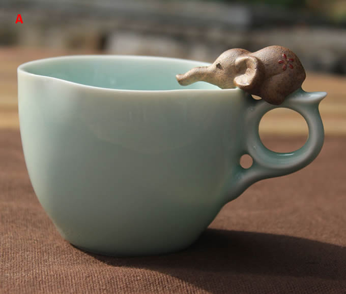 desk chair best buy wedding covers rentals seattle cute elephant figurine ceramic coffee cup - feelgift