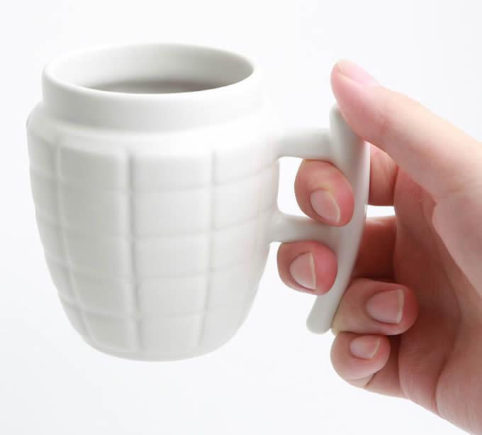 Grenade Shaped Ceramic Mug  FeelGift