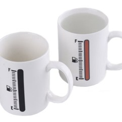Beach Chair Cup Holder Office For Standing Desk Magic Thermometer Color Changing Ceramic Coffee Mug - Feelgift