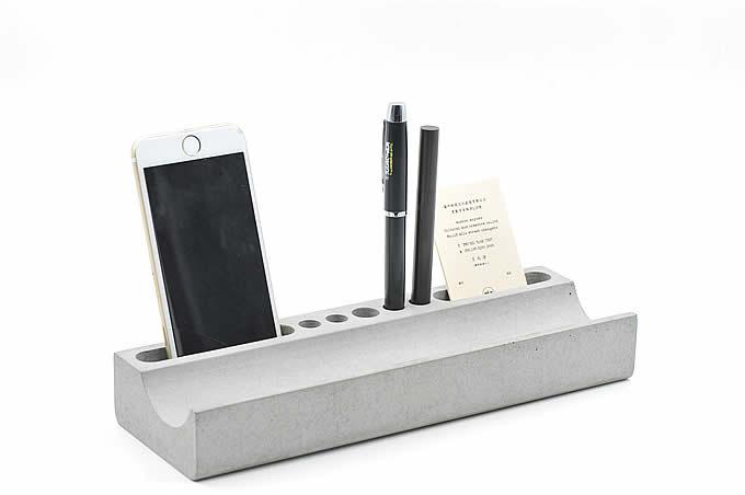 Concrete Pencil Holder  Phone Holder Desk Organizer