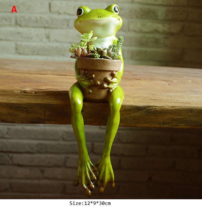 Cute Frog Succulent Planter  Plant Pot  Flower Pot