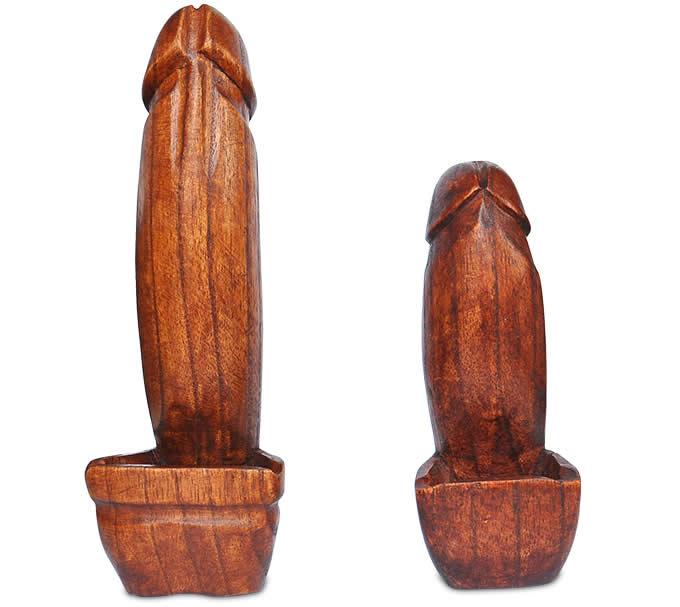 Wooden Penis Ashtray  FeelGift