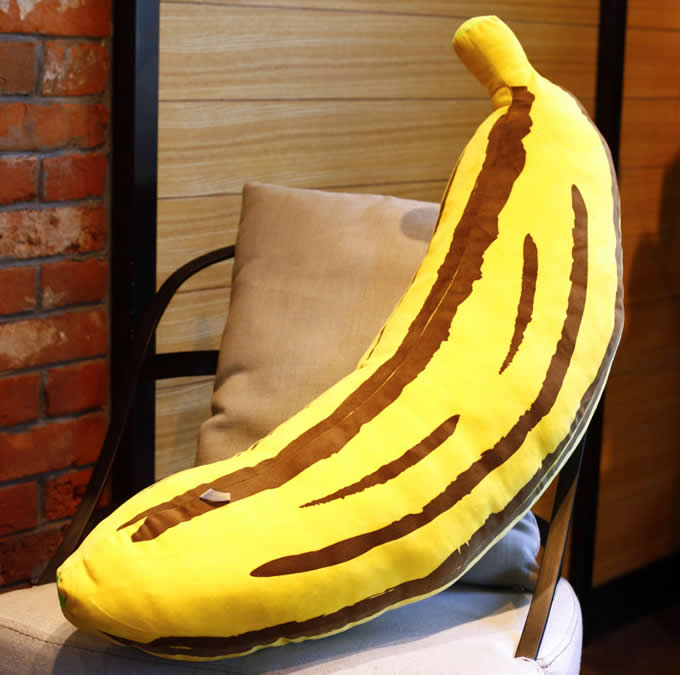 Banana Pillow Cushion Plush Stuffed  FeelGift