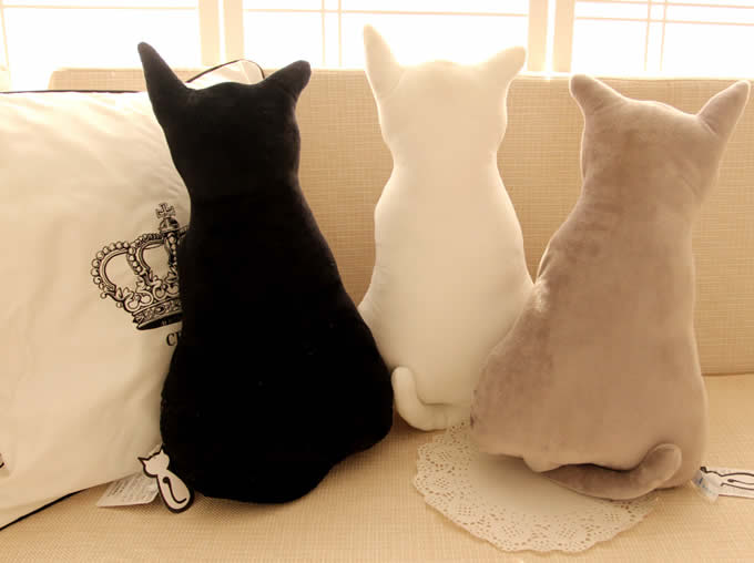 Cute Cat Throw Pillow Back Cushion Pillow  FeelGift