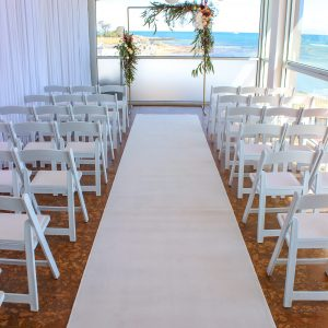 wedding chair cover hire brighton academy sports chairs the baths middle venue spotlight feel good events white carpet setup