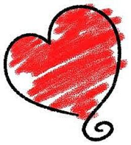 This is an image of a red heart