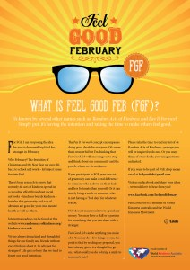 This is an image of the Feel Good Feb information poster