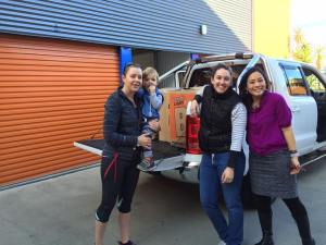 This is an image of ladies helping out KIC with transportation.