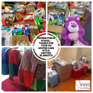 This is an image of a collage of donations from Cromer PS