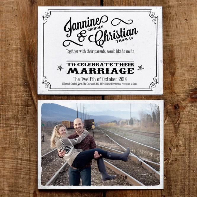 Vintage Photo Postcard Wedding