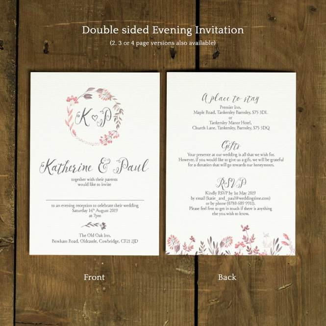 Summer Meadow Wedding Invitation Feel Good Invitations