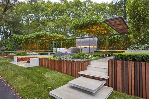 brilliant backyard garden