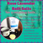 R & R Tips: DIY Luxurious Rose Lavender Bath Salts