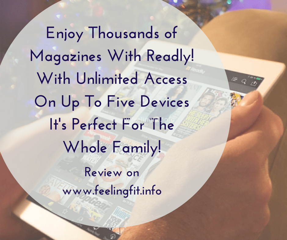 Enjoy thousands of magazines with Readly